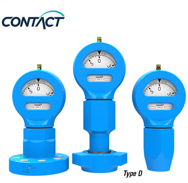 Rugged Standpipe Pressure gauges Type D & F | Contact